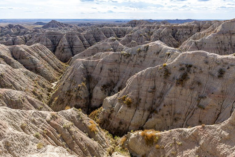 Pinnacles overlook view of awesome rock formations and gullies