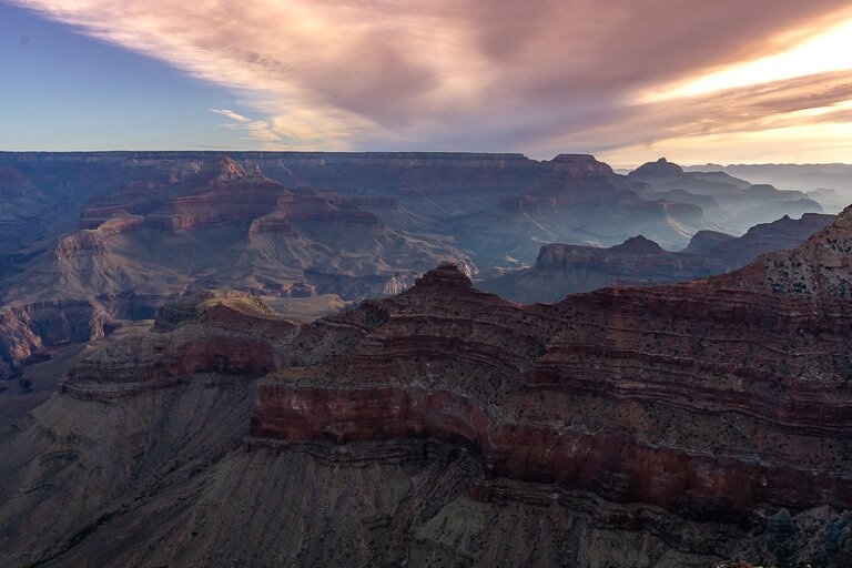 Grand Canyon sunrise included with America the beautiful national park pass