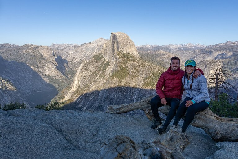 Mark Kristen Half Dome Yosemite included with America the beautiful national park pass