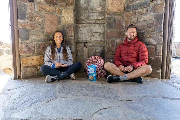 Mark and kristen sat in the watchtower summit black elk peak