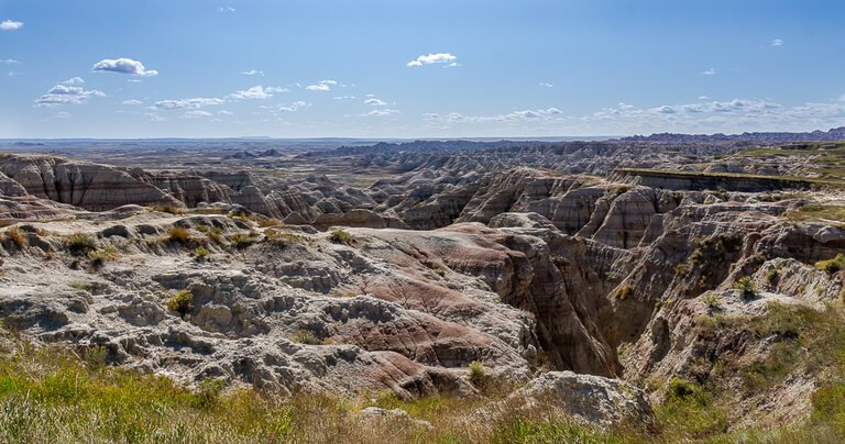 Panorama point badlands view of rock formations
