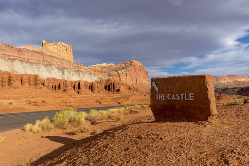 The castle lookout point Capitol Reef