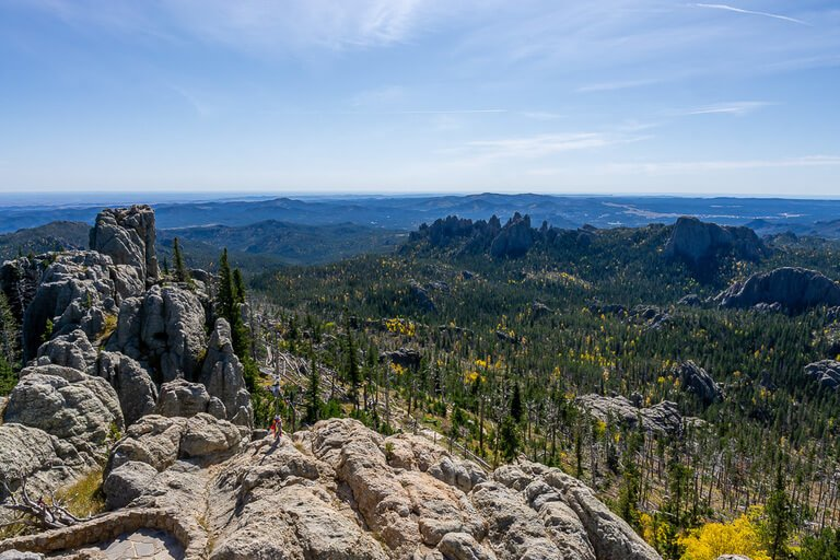 Black Elk Peak Summit incredible views over Montana, Wyoming, Nebraska and South Dakota
