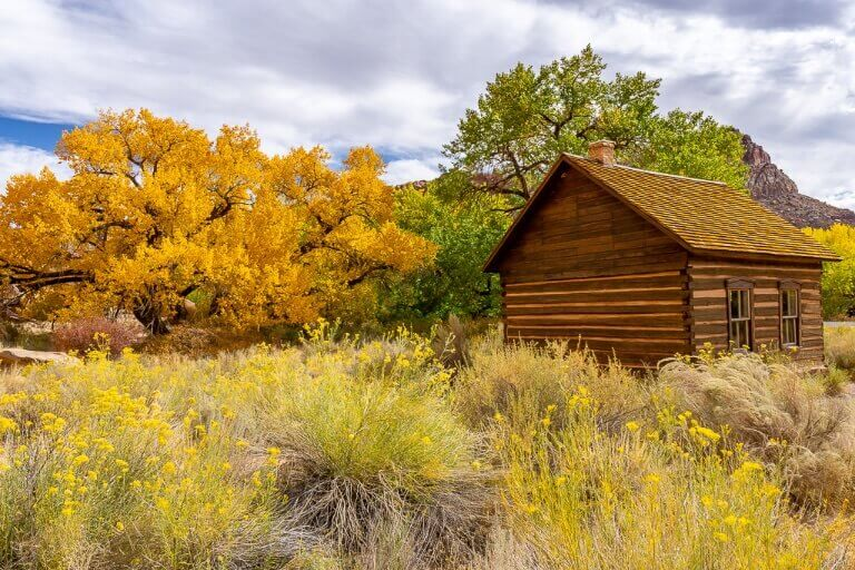 Capitol Reef National Park Fruita Schoolhouse Fall colors