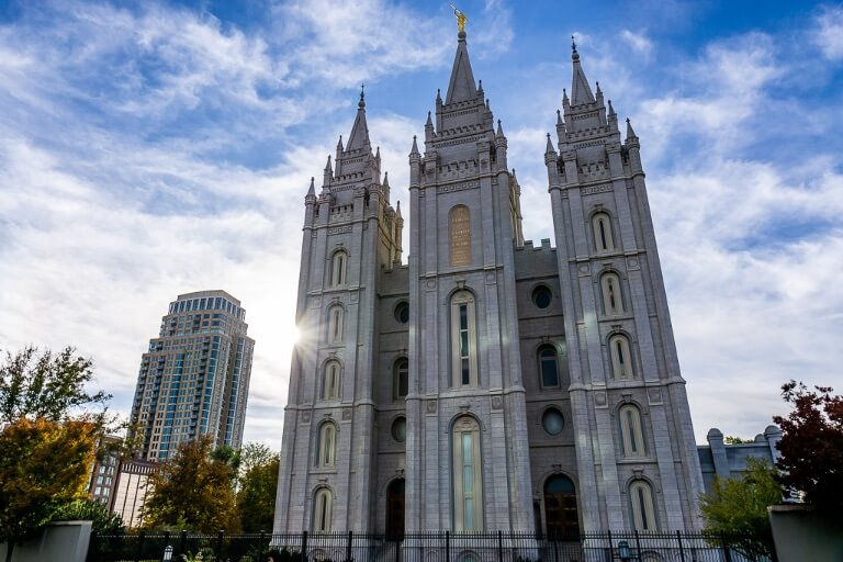 Salt Lake City Temple Latter-day Saints Church on Utah Road Trip