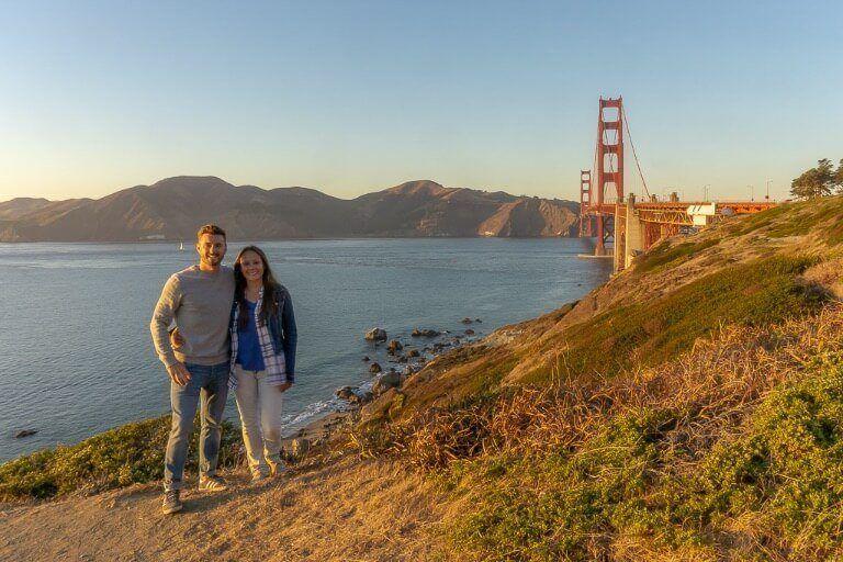 Mark and Kristen Golden Gate Bridge San Francisco