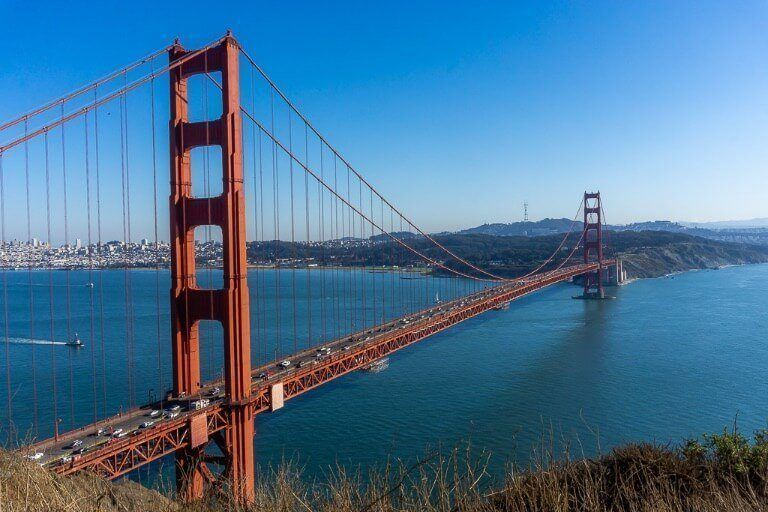 Battery Spencer on Marin headland is the best place to view the golden gate bridge in sf