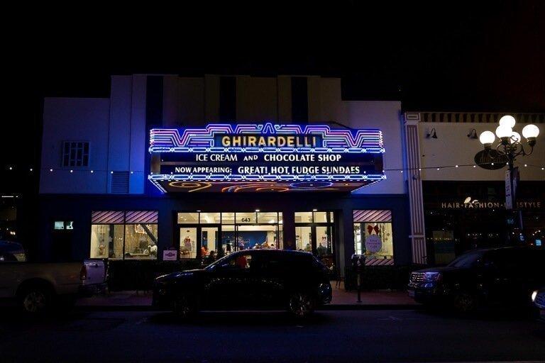 Ghirardelli's chocolatier Gaslamp district San Diego California