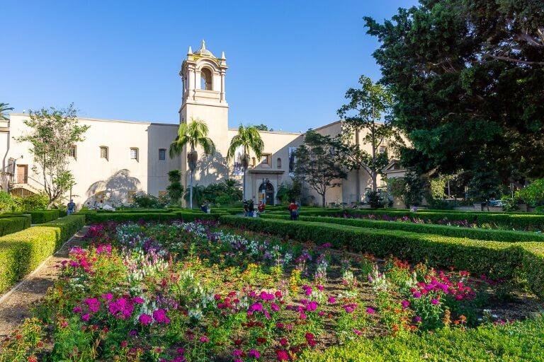 San Diego itinerary alcazar garden inside Balboa park