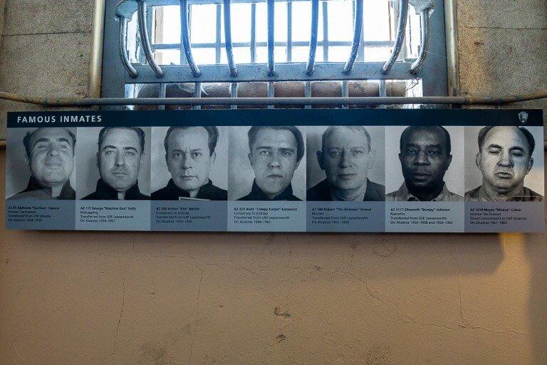 Infamous inmates at Alcatraz prison
