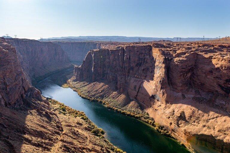 Stunning Colorado River bursting through canyons in Page Glen Canyon