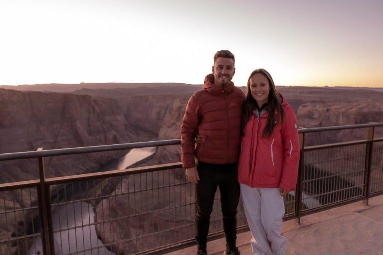 Mark and Kristen at Horseshoe Bend sunset AZ