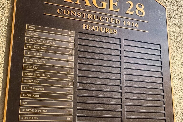 Stage 28 at Warner Bros studio movie tour backlot and stages