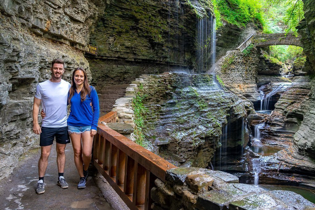 Mark and Kristen where are those morgans on the epic gorge trail at Watkins Glen State park finger lakes New York