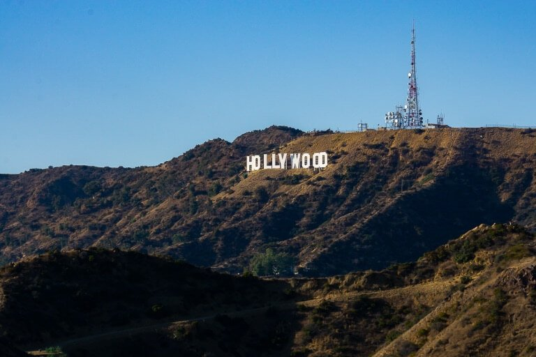 Hollywood Sign on Mt Lee from Griffith Observatory LA