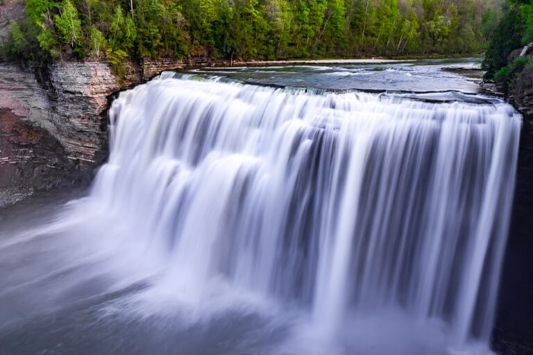 Letchworth Falls State Park Middle Falls near Rochester NY Nicknamed Grand Canyon of the East powerful wide falls