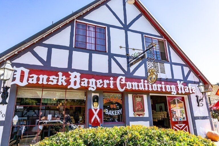 Solvang Danish town in California is unique strange but awesome definitely stop here when driving pacific highway 1 from San Francisco to San Diego along the coast