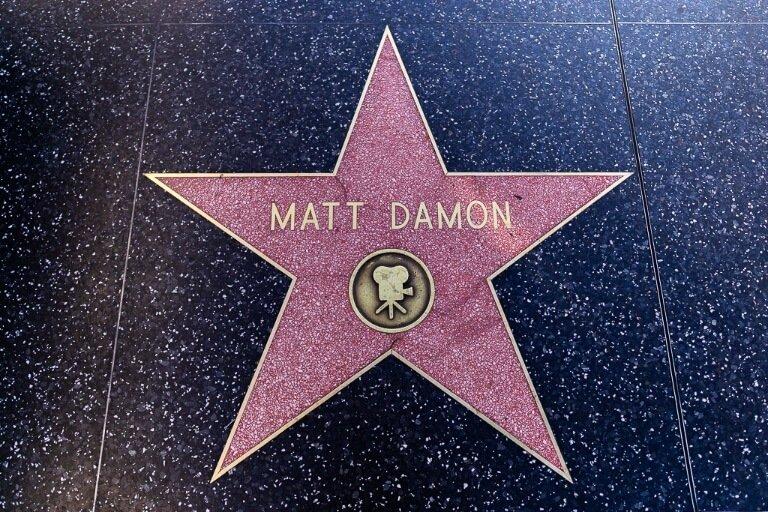 Matt Damon star on the Hollywood walk of fame